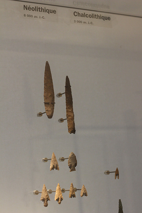 Neolithic arrow and spear heads