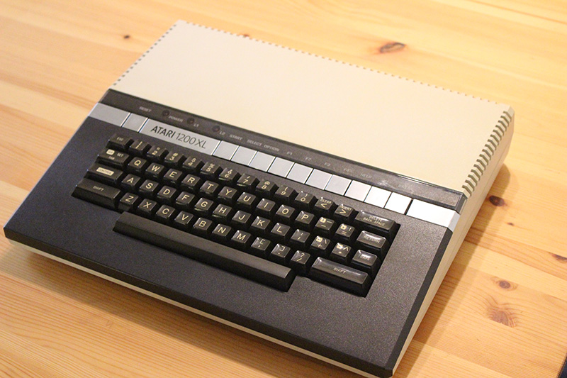 One of the most attractive of the 8-bit computer designs, the Atari 1200XL, by Regan Cheng.