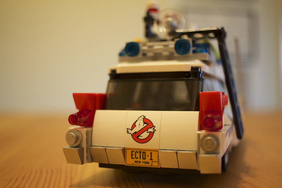 Rear-end of the ECTO-1.