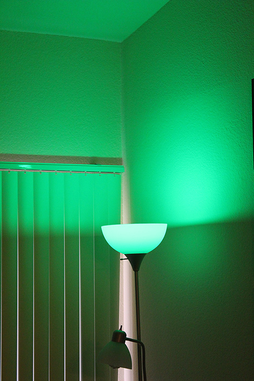 Green living with a lightbulb that gives you green lighting.
