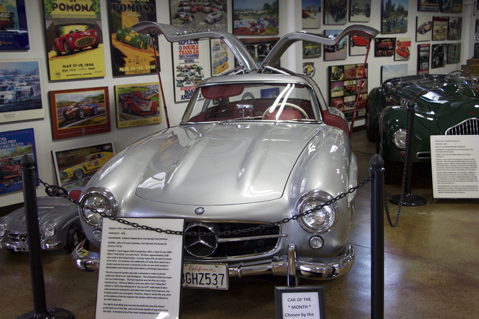 A beautiful example of the Mercedes Benz SL300 'Gullwing'.
