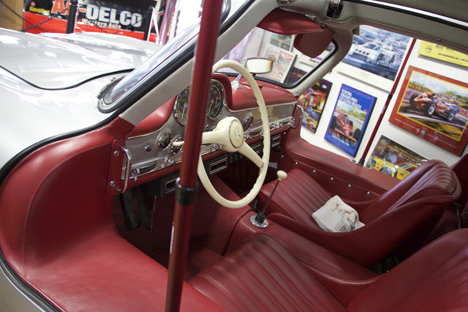 Woodland's 300SL, interior.
