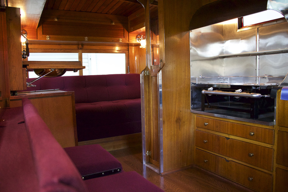 Inside the 1929 REO Speedwagon Camper.