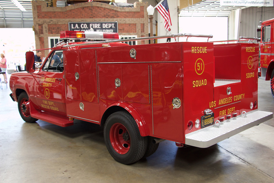 Squad 51, rear-left view.