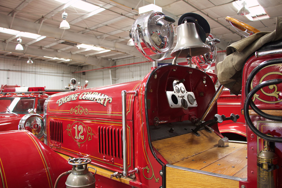 The 'dashboard' on the 1927 Seagrave Triple.