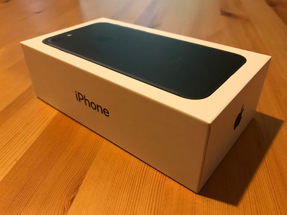 The box for the new iPhone 7.