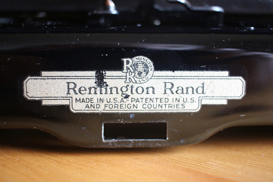 Remington Rand logo from the Streamliner typewriter.